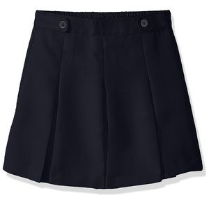 Dockers Navy Blue Pleated Skirt Size 12 NWT